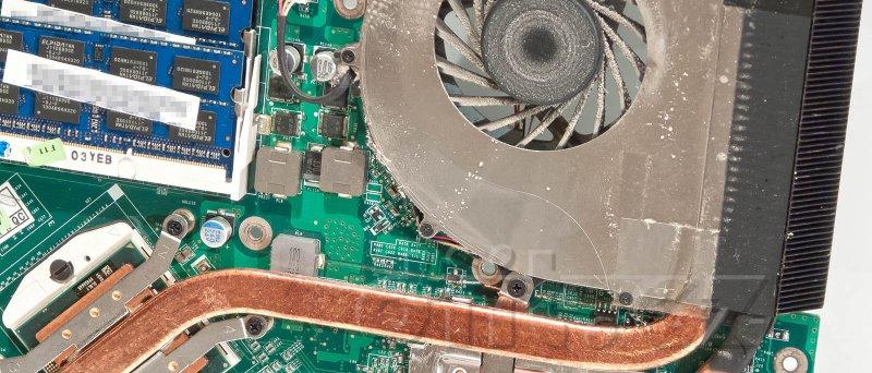 Acer Aspire 7745G - chlazení