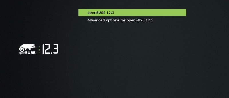 openSUSE 12.3 - grub2