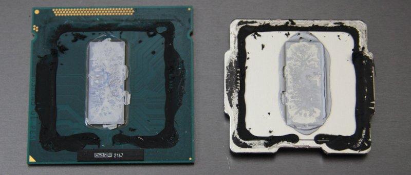Intel Ivy Bridge, sejmutý heatspreader