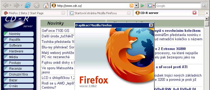 Firefox 2 Beta 2