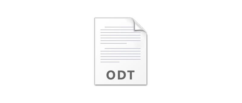 Open Document ikona ODT