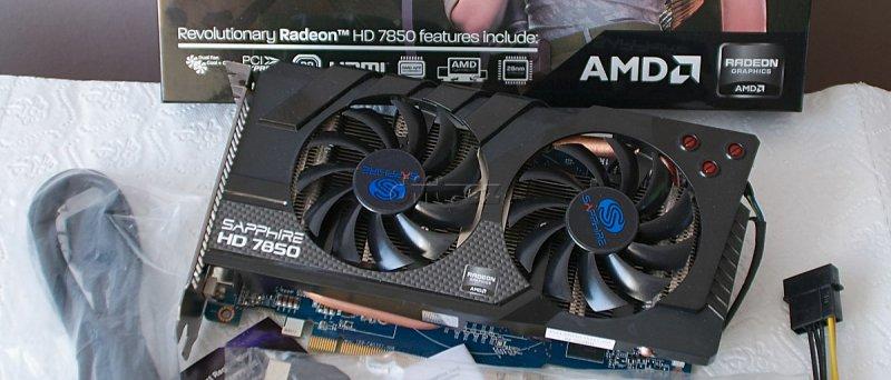 Sapphire Radeon HD 7850 OC: balení