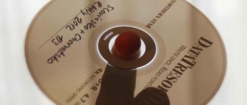 Data Tresor Disc - linux, LG blu-ray, na prstu