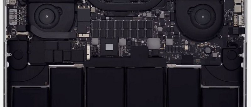 Apple Macbook Pro Retina, vnitřek