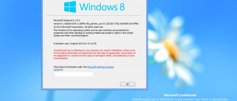 Windows Blue - Windows 8.1 build 9375_