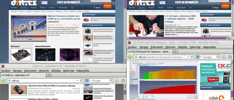 4x Firefox 21, LXDE