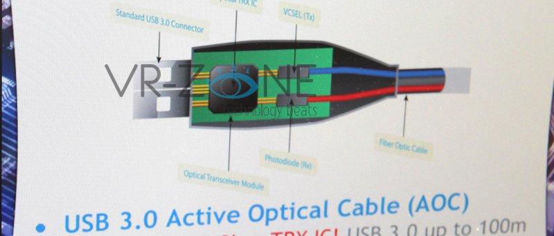 VIA Labs předvádí V0510 (optické USB 3.0)