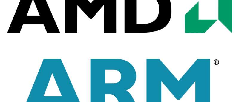 ARM logo AMD logo