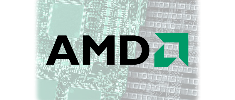 AMD logo na PCB