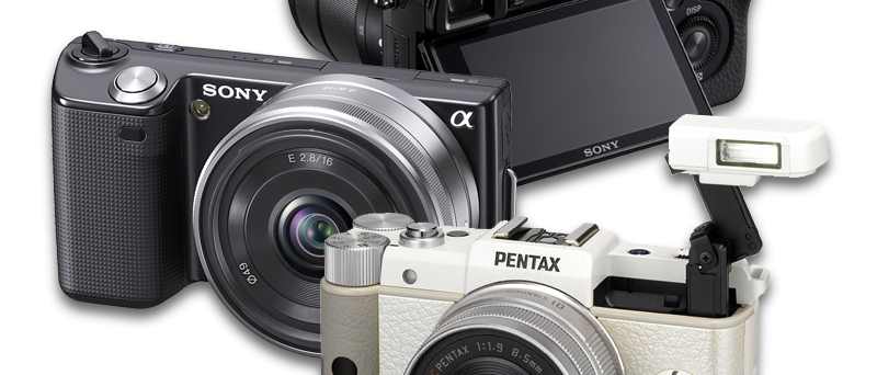 mirrorless bezzrcadlovky Sony a Pentax