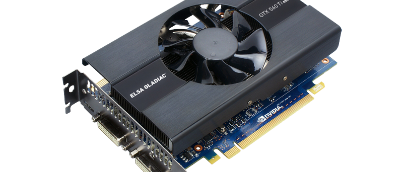 ELSA Gladiac GeForce GTX 560 Ti mini - izo