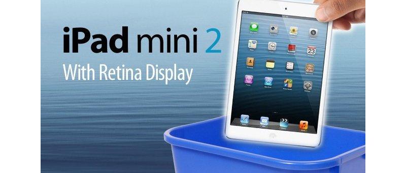 iPad Mini 2 with Retina displej recycle bin