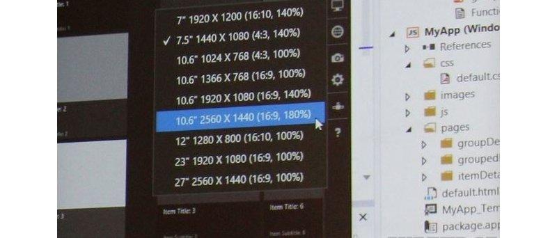 Microsoft Windows 8.1 high-resolution tablets