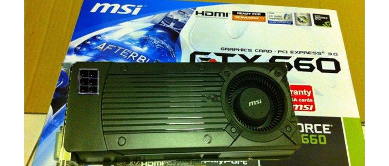 MSI GeForce GTX 660 fake