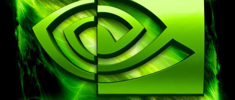 Nvidia logo s blesky