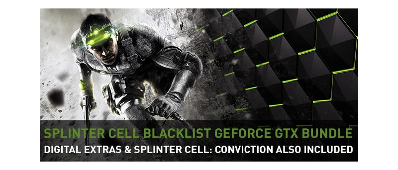 Geforce GTX Bundle Splinter Cell Blacklist