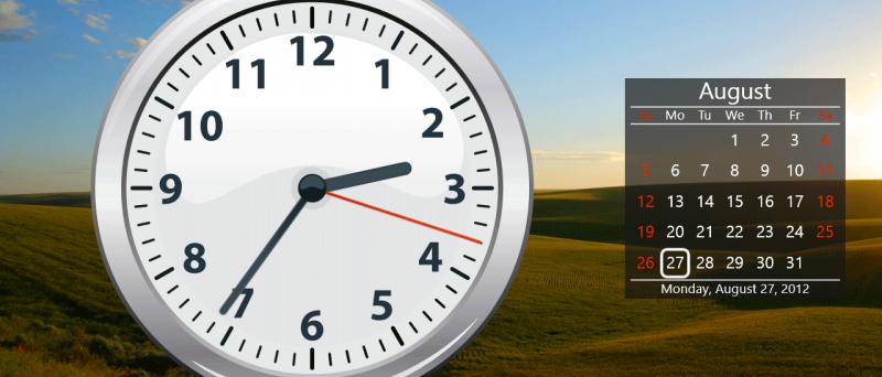Windows 8 clock