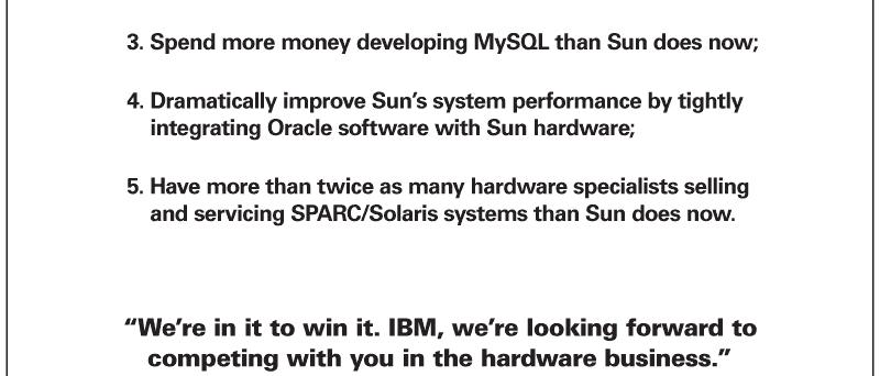 Plány Oracle po akvizici společnosti Sun