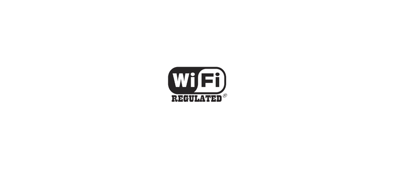 Wi-Fi Regulated logo (vymyšlené)