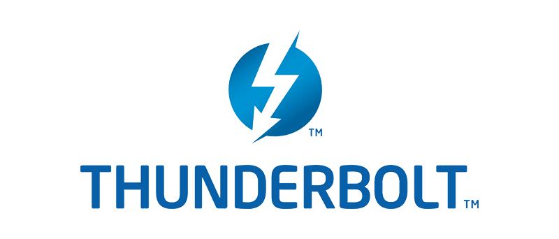Thunderbolt logo horizontalni