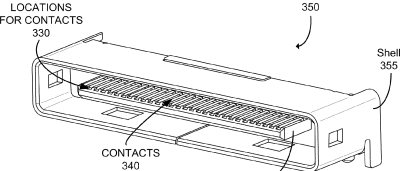 Patent Apple 7,918,689 na univerzální konektor
