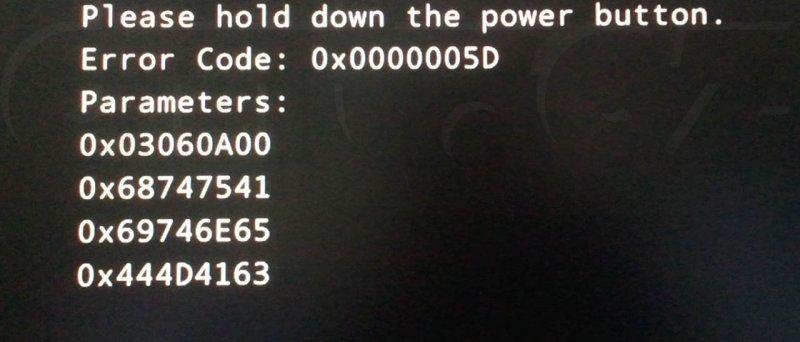 Windows 8 - Error Code 0x00005D