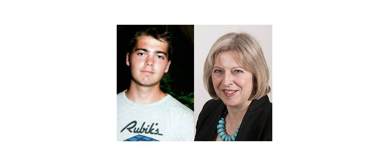 Richard O'Dwyer a Theresa May