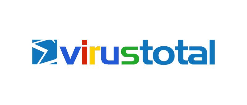 VirusTotal logo barevné jako Google