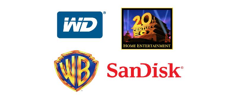 WD, WB, 20th Century Fox, SanDisk