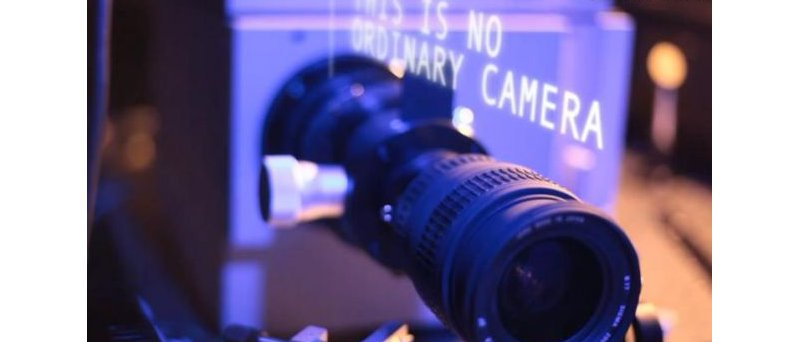Camera with laser