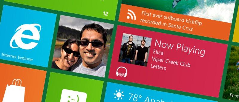 Windows 8 - player in METRO