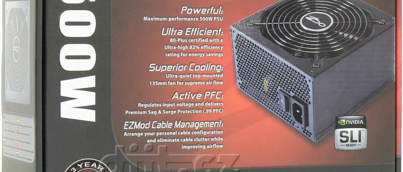 OCZ ModXStream Pro 500 W krabice
