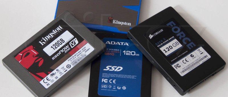 Kingston HyperX, Kingston SSDNow V+200, ADATA S510, Corsair Force 3 - vše 120 GB