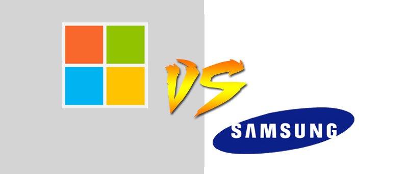 Microsoft Versus Samsung