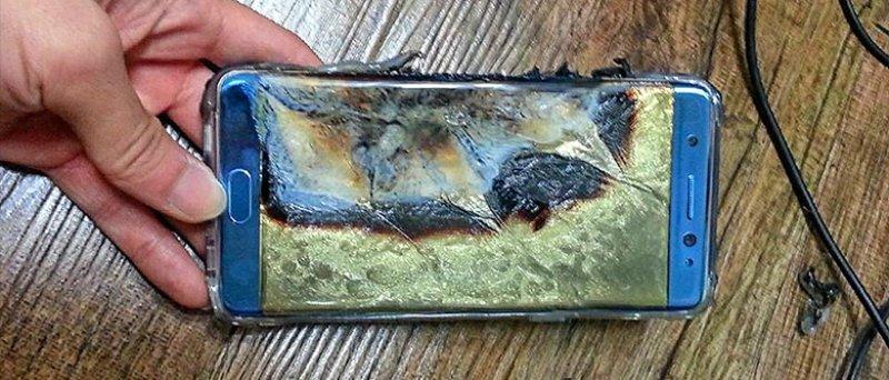 Note 7 Burn