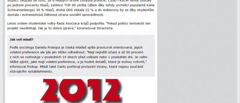 U středoškoláků vyhráli v krajských volbách piráti, TOP 09 skončila druhá — Domácí — ČT24 — Česká televize