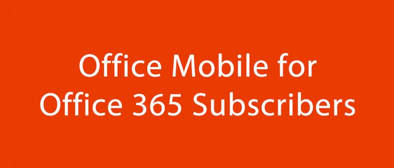Microsoft Office Mobile for Office 365 - Obrázek 1
