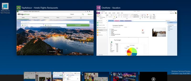 Windows 10 Tech Preview Virtual Desktop