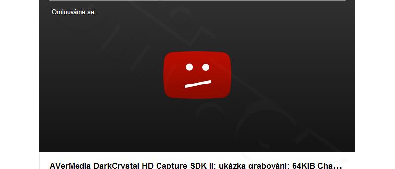 Zablokované video na YouTube