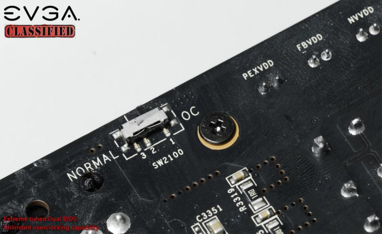 EVGA GeForce GTX 580 Classified - dual BIOS