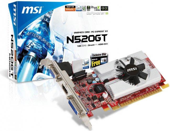 Nvidia GeForce GT 520 - MSI