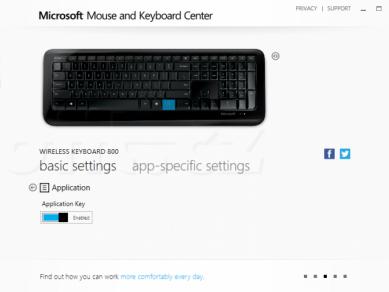 03 Microsoft Mouse And Keyboard Center Klavesnice Application Key