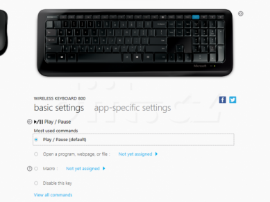 04 Microsoft Mouse And Keyboard Center Klavesnice Play Pause