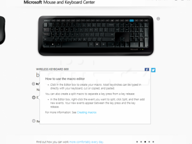 06 Microsoft Mouse And Keyboard Center Klavesnice How Tu Use Macro Editor