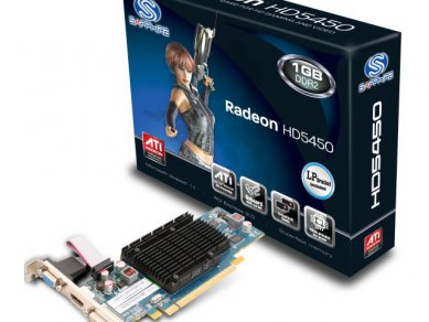 Sapphire Radeon HD 5450 512MB DDR2, pomalejší verze