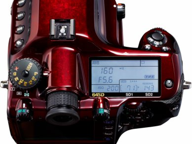 Pentax 645D Limited Edition Grand Prix - top