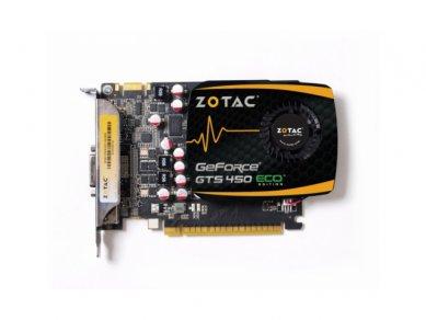 Zotac GeForce GTS 450 ECO - předek