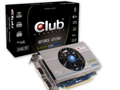 Club 3D GeForce GTX 560Ti Green Edition CGNX-XT56024G