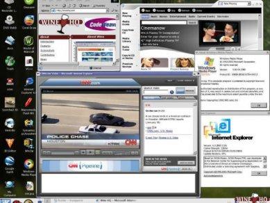 Wine - Internet Explorer a Windows Media Player