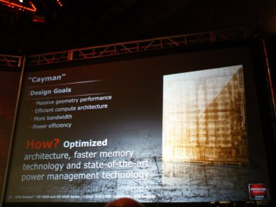 Prezentace AMD Radeonů HD 6900: Cayman: Design Goals